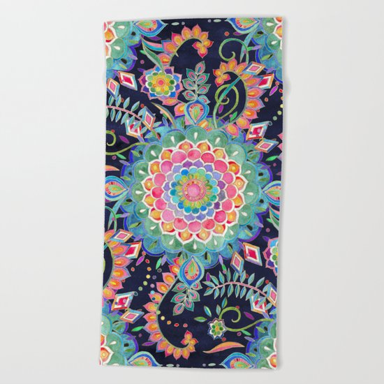 Color Celebration Mandala Beach Towel