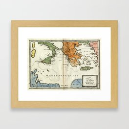 The Voyage of Aeneas According to Virgil Framed Art Print