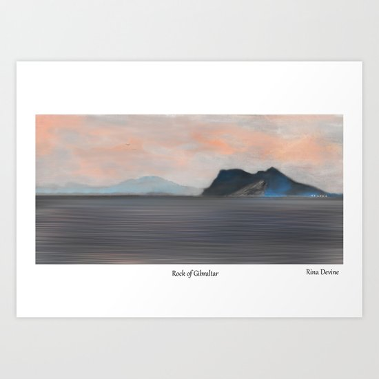Rock of Gibraltar 2 Art Print