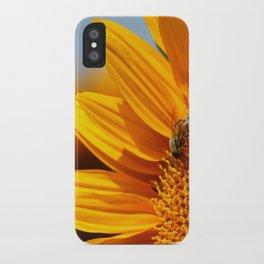 Sunflower & Bee iPhone Case