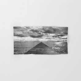 Pyramid at the sea in Cannes Black and white photography Hand & Bath Towel