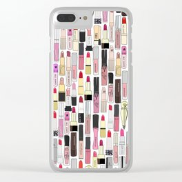 Lipstick Decoys Clear iPhone Case