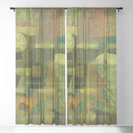Dorado Verdiso and Butterfly Sheer Curtain