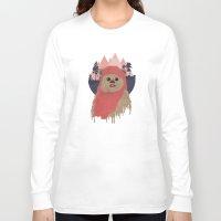 ewok Long Sleeve T-shirts featuring Ewok by Robert Scheribel