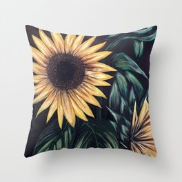 Sunflower Life Throw Pillow