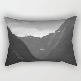 Flight entering Milford Sound New Zealand South Island Rectangular Pillow