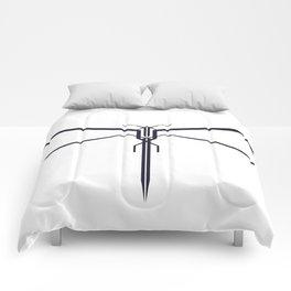 DRAGONFLY B/W Comforters