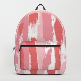 Brushstrokes Stripes Pattern - Pink, Rose, Coral, Peach Backpack