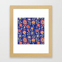 wonky wildflower waterfall ... Framed Art Print