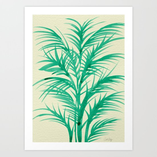 Mint Palms Art Print