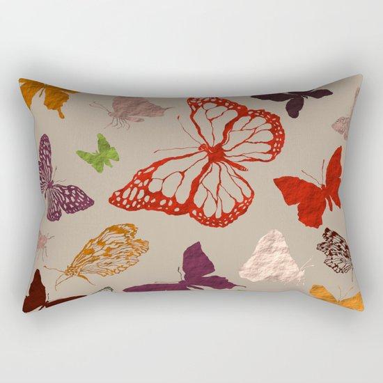 Autumn butterfly neutral Rectangular Pillow