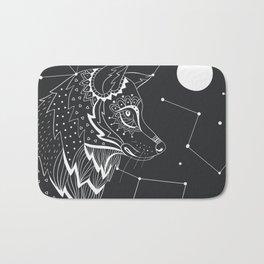 Wolf constellations Bath Mat
