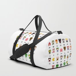Video Games Pixel Alphabet Duffle Bag