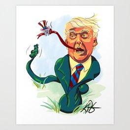 Snake Man Art Print