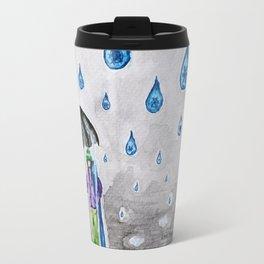 Raining Snow by Ama Hartman  Travel Mug