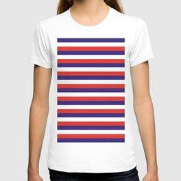 Costa Rica laos flag stripes T-shirt