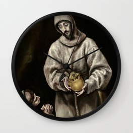 "El Greco (Domenikos Theotokopoulos) ""Saint Francis and brother Leo"") Wall Clock"