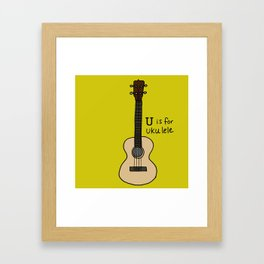 U is for Ukulele Framed Art Print