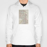 geology Hoodies featuring Beautiful Map of the Lower Mississippi River by Elegant Chaos Gallery