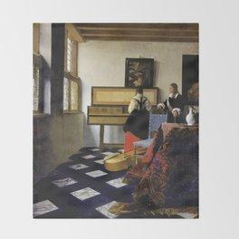 Johannes Vermeer  - The Music Lesson Throw Blanket