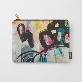 Sweet Layered Thoughts Mixed Media Contemporary Abstract Art Carry-All Pouch