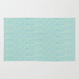 Blue Scribbles Pattern 05 Rug