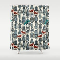 steampunk towers Shower Curtain