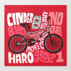 All My Bikes: 9, Haro Group 1 Canvas Print