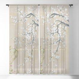 Ume flower painting,korean painting Sheer Curtain