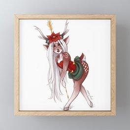 Holly the Faun Framed Mini Art Print