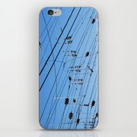 washington dc iPhone & iPod Skins featuring Crossed wires, Washington DC by David Ansley