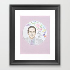 Michael Scott: That's What She Said Framed Art Print
