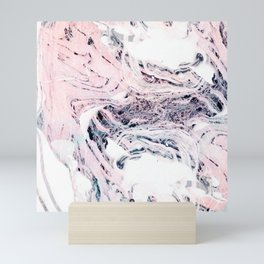 Abstract marbled saturated Mini Art Print