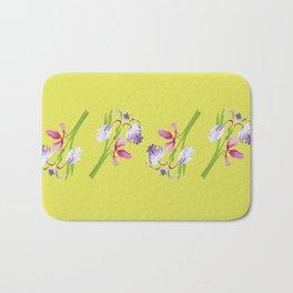 Beautiful Spring Irises Bath Mat