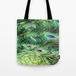 Feather Me Blue & Green (Peacock Feathers) Tote Bag