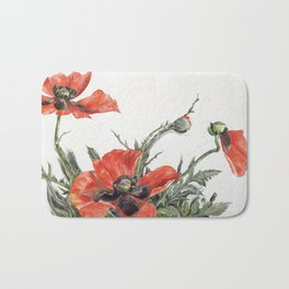 Red Poppies by Charles Demuth, 1929 Bath Mat