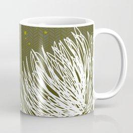 Olive Doodle Floral by Friztin Coffee Mug