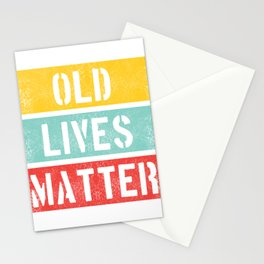 Old Lives Matter T-Shirt Funny 40th 50th 60th Birthday Gift Mens Women Elderly Seniors Citizen Stationery Cards