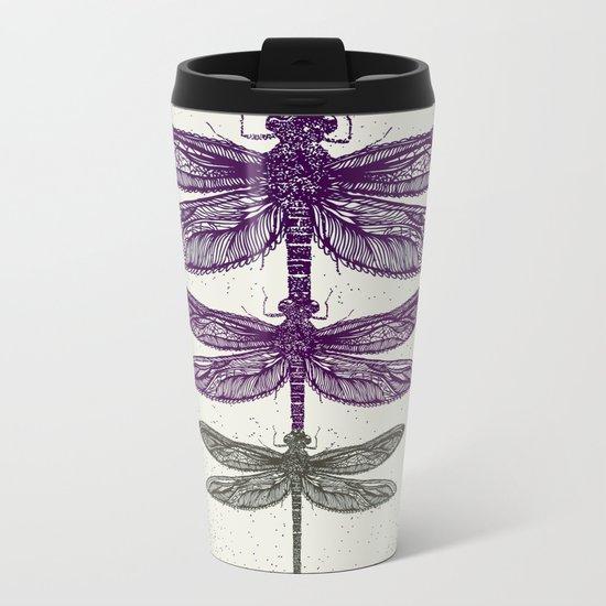Dragonfly  Metal Travel Mug