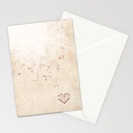 Music Heart old paper Stationery Cards