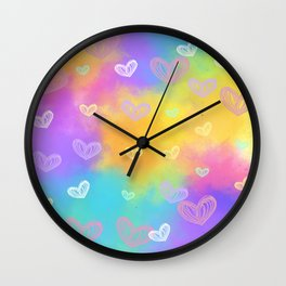 Colorful Heart Drawings Ver.9 Wall Clock