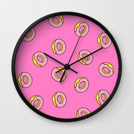 Donuts Pink Wall Clock