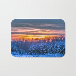 Magic winter sunset Bath Mat