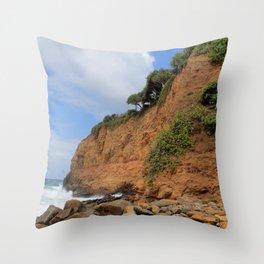 Hawaiian Cliffs Throw Pillow