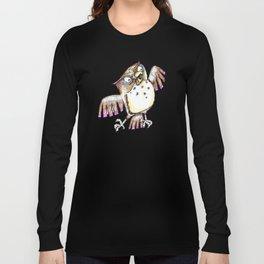 Wise Old Owl w/ Gel Pen Long Sleeve T-shirt