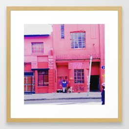 #75Photo #82 #ThisIsAfrica #RedAndBlue #ILoveNewtown #Joburg Framed Art Print