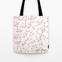 martell Tote Bags featuring Bunny Invasion  by G Martell