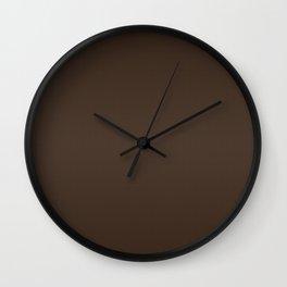 Brushed Cedar Wall Clock