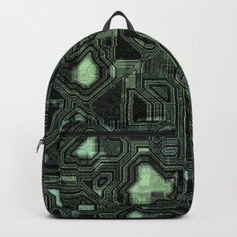 Dark green circuitry Backpack