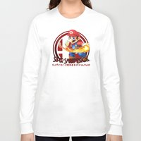 mario bros Long Sleeve T-shirts featuring Mario - Super Smash Bros. by Donkey Inferno